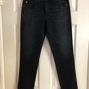 AG Jeans Prima Mid-Rise Cigarette. Blue Dark Rinse